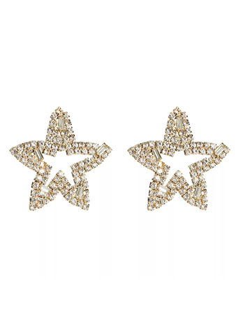 TREASURE JEWELS - Oversized Star Crystal Earrings No-Color