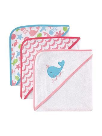 LUVABLE FRIENDS - Hooded 3 Pack Towel - Girl MULTI