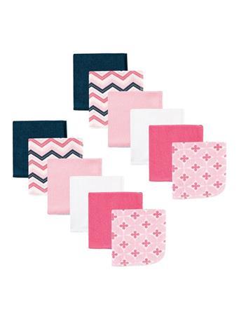 LUVABLE FRIENDS - 12 Pack Wash Cloths Pink PINK
