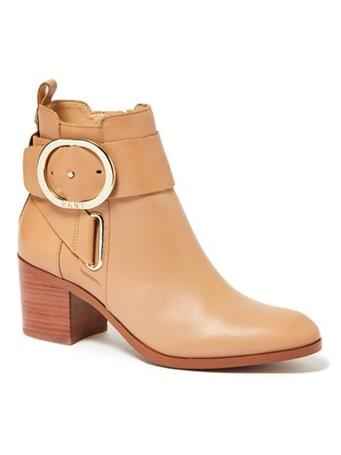 DKNY - Telo Ankle Boot W Buckle CREAM