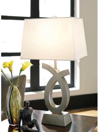 ASHLEY FURNITURE - Amayeta Table Lamp SILVER