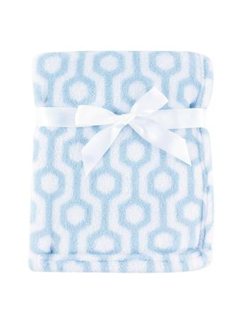 LUVABLE FRIENDS - Coral Fleece Blanket, Blue Circles No Color