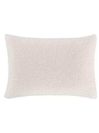 EDEN & WEST - Faux Sherpa Pillow Case WHITE