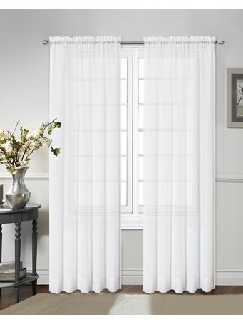 STYLEMASTER - Elegance Solid Voile Sheer Panel WHITE