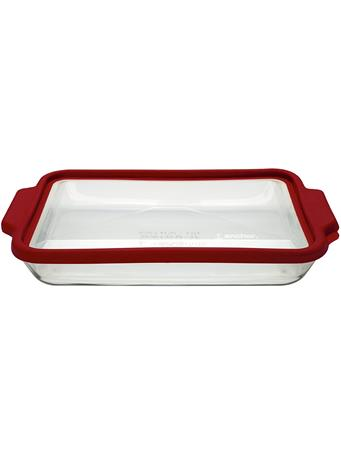 ANCHOR HOCKING - Glass Oven Dish with Lid, Cherry No Color