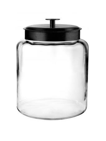 ANCHOR HOCKING - Montana Jar with Black Metal Lid, 2 Gallon No Color
