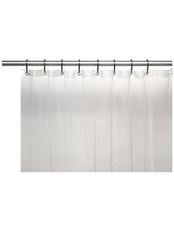 CARNATION HOME FASHION - 3 Gauge Vinyl Shower Liner SUPER CLEAR