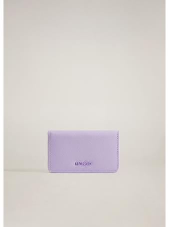 MANGO - Saffiano-effect Wallet PURPLE