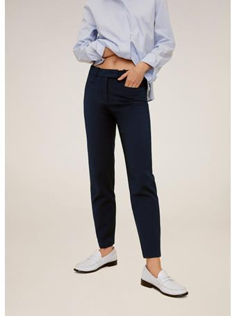 MANGO - Cotton Crop Pants NAVY