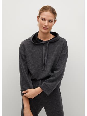 MANGO - Flecked Oversize Sweatshirt DARK GREY