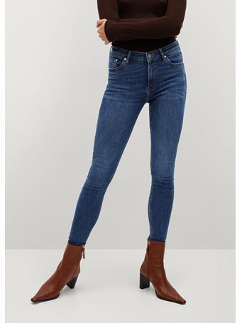 MANGO - Crop Skinny Isa Jeans NAVY