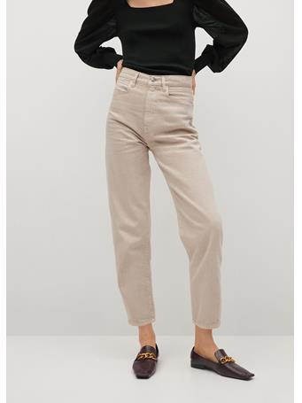 MANGO - High-waist Balloon Jeans LIGHT BEIGE