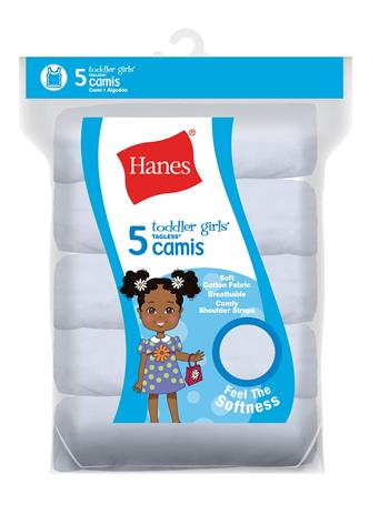 HANES - Toddler Girl Cami 5 Pack  No Color