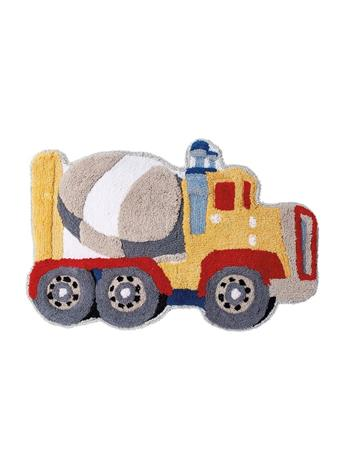 DREAM FACTORY - Cement Mixer Tufted Bath Rug YELLOW