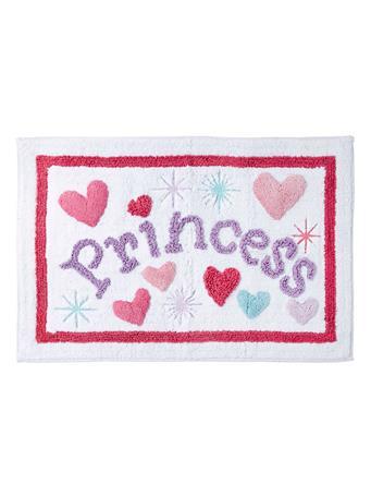 DREAM FACTORY - Princess Tufted Bath Rug WHITE