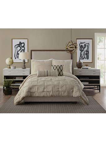 AYESHA CURRY - Natural Instincts Double Cloth Comforter Set LINEN