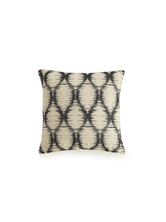 AYESHA CURRY - Natural Instincts Ogee Decorative Cushion BLACK