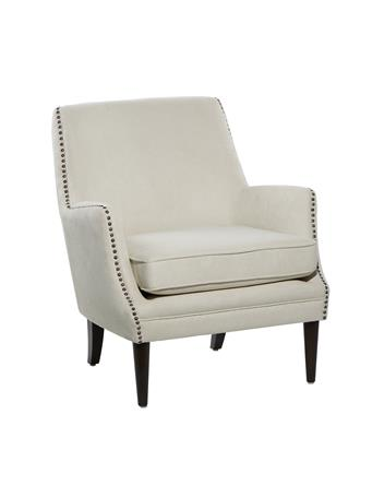 UMA INC. - Fritz Accent Chair with Nail Heads BEIGE