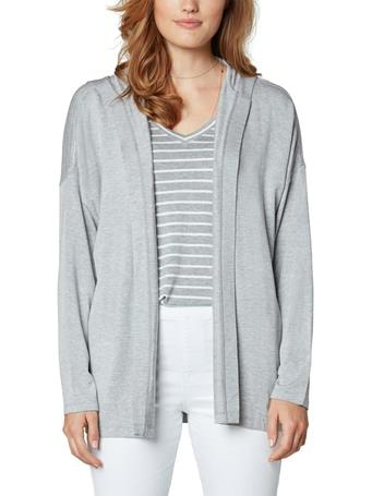 LIVERPOOL - Drop Shoulder Cardi With Hood LT HEATHER GREY