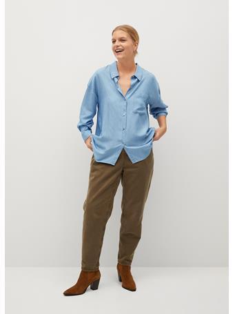 VIOLETA - Fluid Denim Shirt LT-PASTEL BLUE