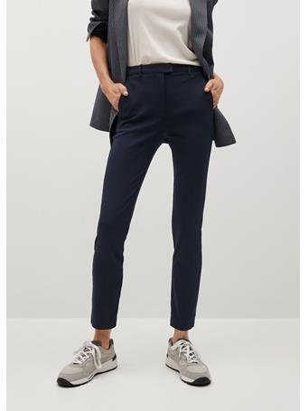 MANGO - Crop Skinny Pants NAVY