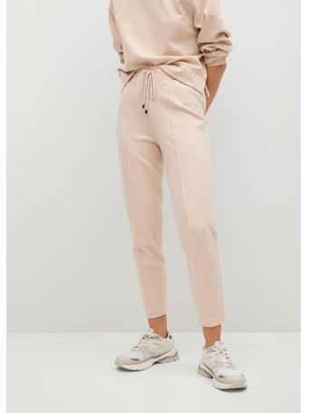 MANGO - Drawstring Jogger Trousers LIGHT BEIGE