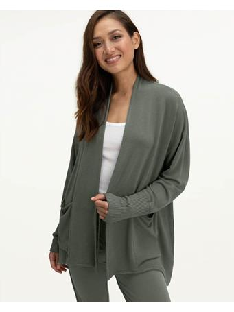 SPLENDID - Eco Supersoft Flora Cardigan V OLV BRN
