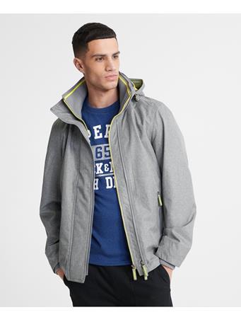 SUPERDRY - Tech Hood Pop Zip Windcheater Jacket GREY GRIT