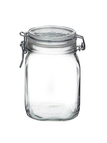 BORMIOLI ROCCO - Fido Square Wire Bail Jars  CLEAR