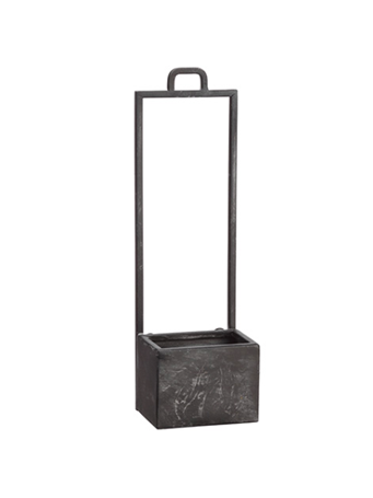 ALL STATE FLORAL - Hanging Metal Planter - Assorted Sizes VASE