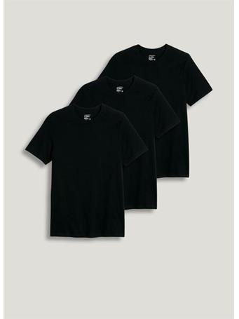 JOCKEY - 3 Pack Crew Neck T-Shirt BLACK
