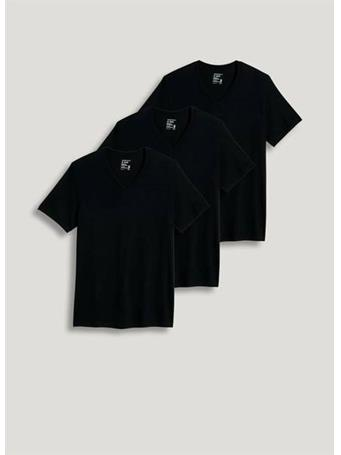 JOCKEY - 3 Pack V-Neck T-Shirt -BLACK