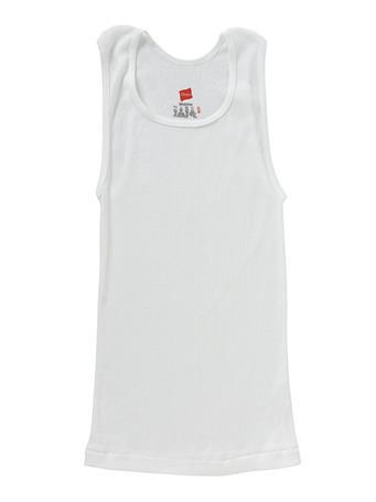 HANES -3 Pack Sleeveless Under vest WHITE