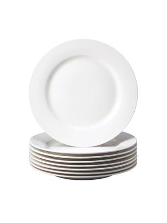 THOMSON POTTERY - 8 Piece Dinner Plate Set WHITE