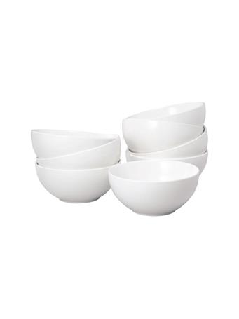 THOMSON POTTERY - 8 Piece Soup/Cereal Bowl Set WHITE