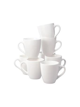 THOMSON POTTERY - 8 Piece Mug Set WHITE