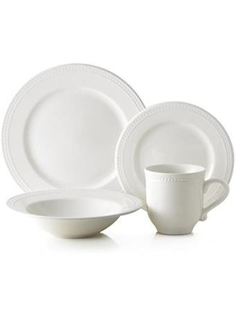 THOMSON POTTERY - 16 Piece Pearlina Dinnerware Set No-Color