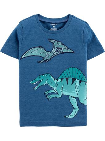 CARTER'S - Teal Dino Tee  No-Color