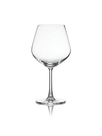 PURE & SIMPLE - Set of 4 Burgundy Glasses No-Color
