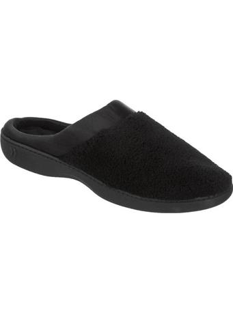 ISOTONER - Microterry Satin Clog Slipper BLACK
