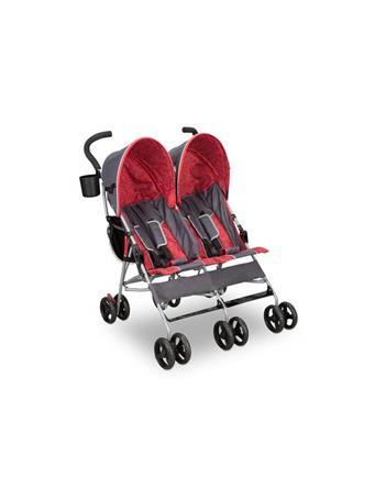 DELTA - LX Side By Side Stroller Grey & Orange GREY/ORANGE