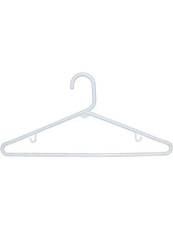 Hanger 5 Piece Adult Tubular WHITE