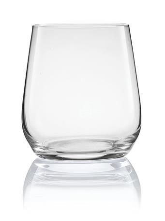 PURE & SIMPLE - Set of 4 Crystal Stemless Cabernet Glasses No Color