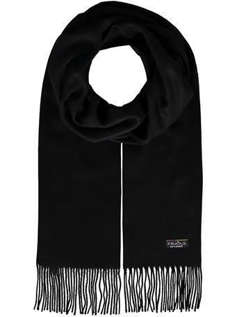V.FRAAS - Cashmink scarf with fringe 990-BLK