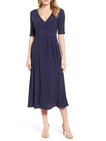 CHAUS - Laura Wrap Dress  NAVY