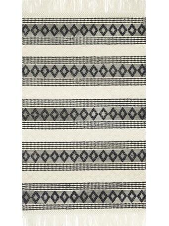 MAGNOLIA HOME  - Grey/Ivory Wool Rug - Holloway Collection BLACKIVORY