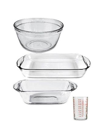 ANCHOR HOCKING - 4 Piece Glass Bakeware Set GLASS