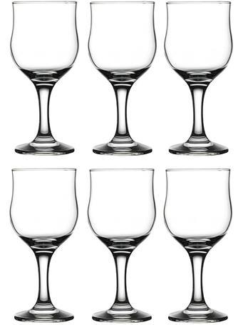 CIRCLEWARE - Concord Street 6-Piece Set - 8OZ Red Wine Glasses No-Color