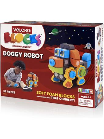 VELCRO BLOCKS - Doggy Robot Foam Blocks Construction Kit - (3+Yrs.) {#color}