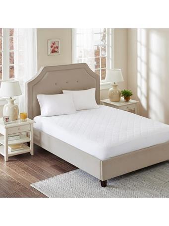 MARINER COTTON - Ultra Fresh Cotton Quilted Mattress Pad WHITE
